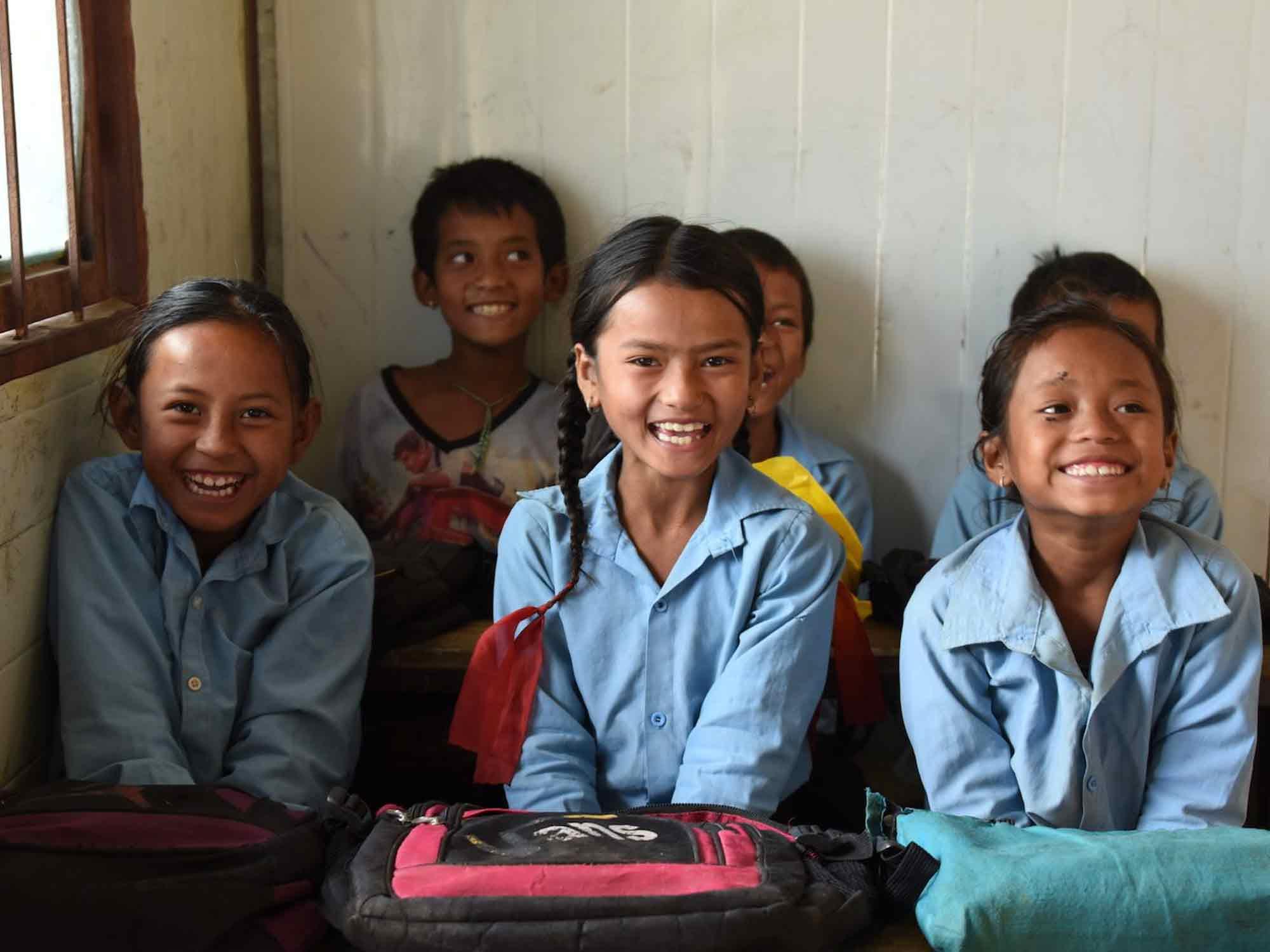 Bild von Kindern der Nepal Initiative Schongau